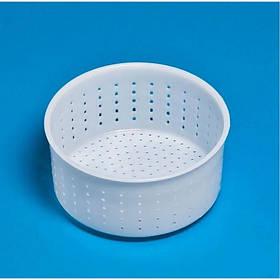 """Форма для сыра """"Круглая"""" d-12,5 х 11,5, h-7 см выход продукции до 0,4 - 0,7 кг. пластиковая Консенсус"""