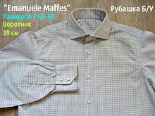 Сорочка чоловіча в клітку Emanuele Maffes Довгий рукав Б/У розмір М