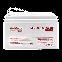 Аккумулятор гелевый LPU-GL 12 - 100 AH LogicPower Лоджик Повер Аккумулятор герметичный 100 АЧ батарея
