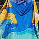 Пончо-полотенце детское пляжное  60х120см., фото 7
