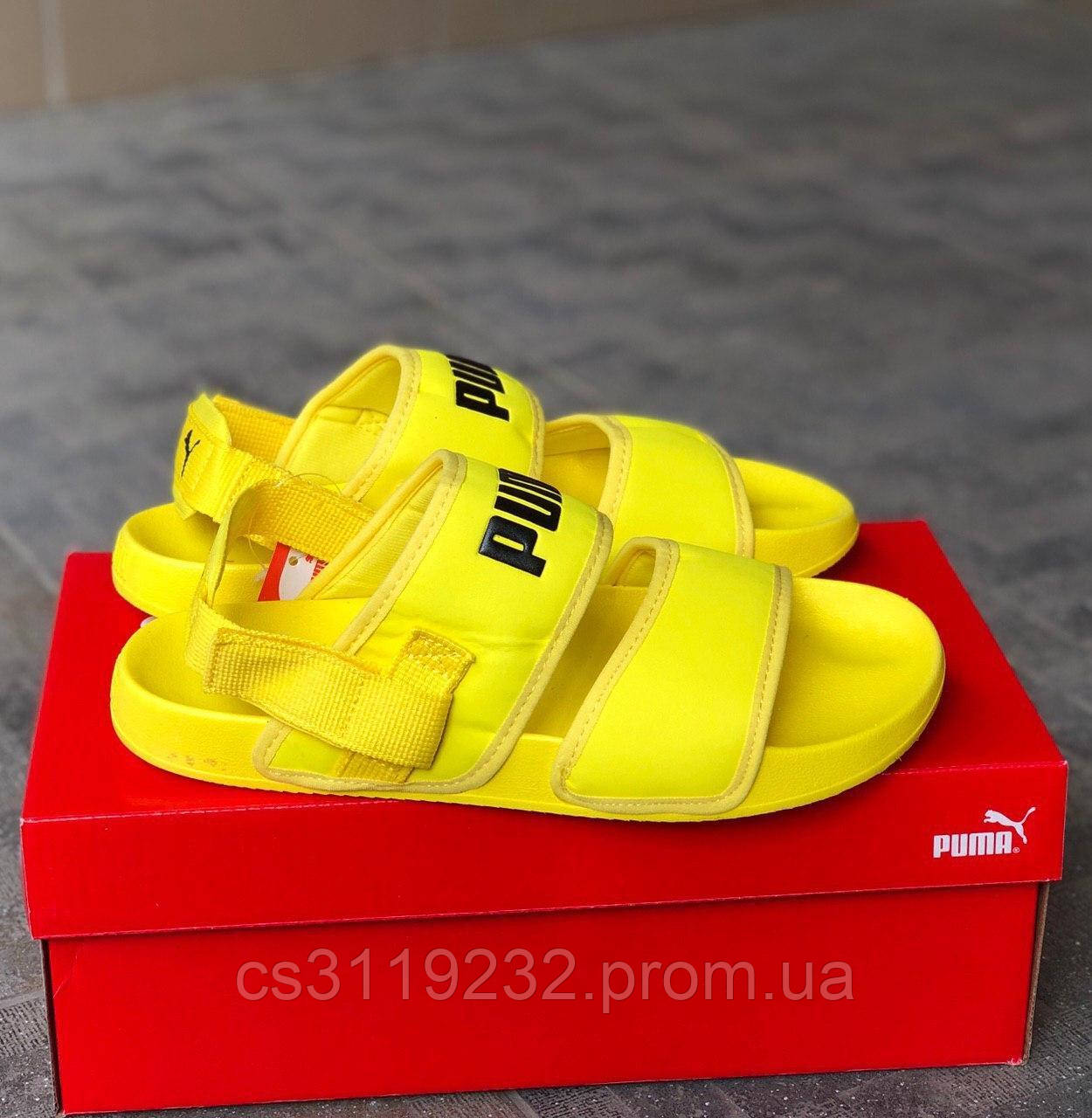 Женские сандали Puma x Hyuna Leadcat YLM Lite Sandal (желтые)