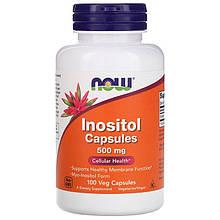 """Инозитол NOW Foods """"Inositol Capsules"""" 500 мг (100 капсул)"""