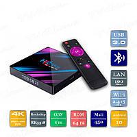 H96 MAX 4/64 Гб Android 10 Smart TV Box ТВ приставка