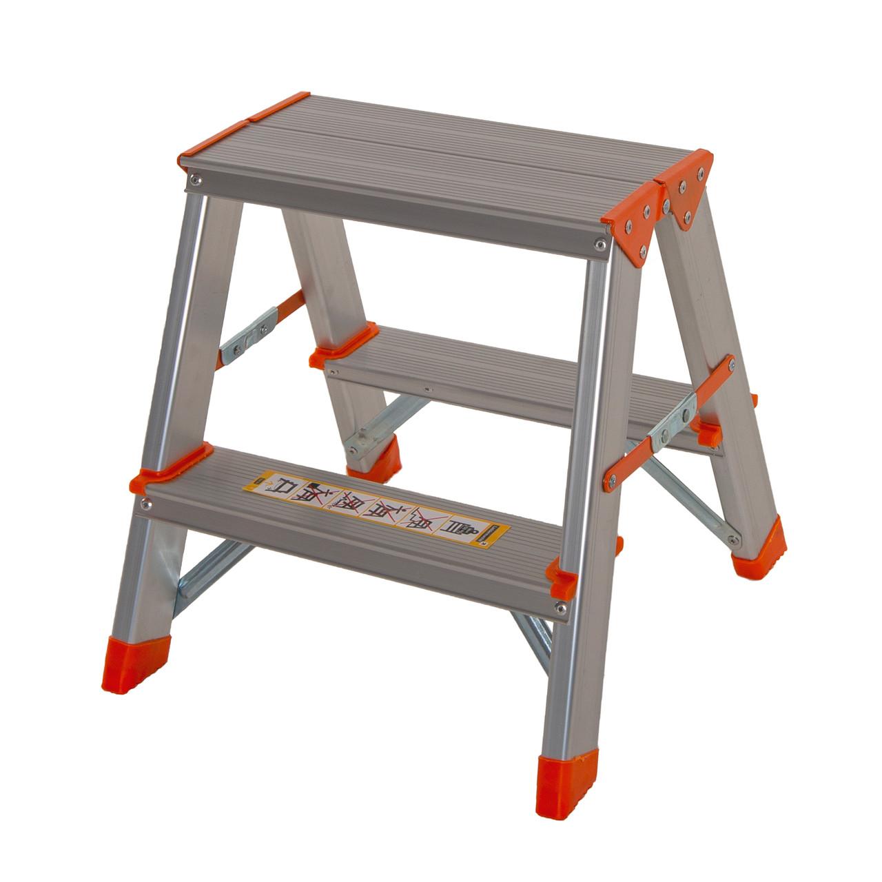 Стрем'янка двостороння алюмінієва Laddermaster Polaris A5A2. 2x2 сходинки