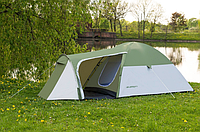 Палатка туристическая Presto Acamper Monsun Pro 4 места c тамбуром клеенные швы 3500 мм Польша зеленая