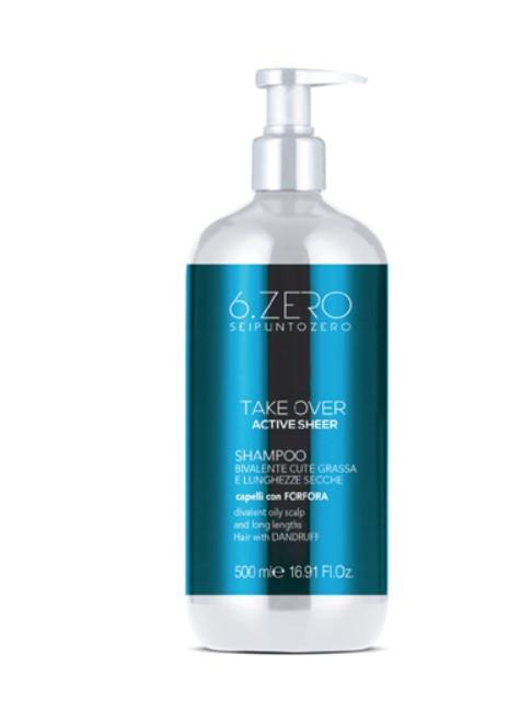 Шампунь бивалентный  Seipuntozero для жирной кожи головы и сухих волос 500мл