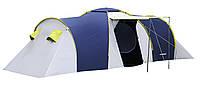 Палатка туристическая Presto Nadir 8 мест двухкомнатная с тамбуром клеенные швы Польша (3500 мм) синяя