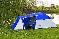 Палатка туристическая Presto Acamper Monsun Pro 3 места c тамбуром клеенные швы 3500 мм Польша синяя