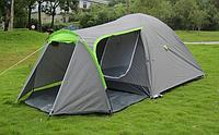 Палатка туристическая Presto Acamper Monsun Pro 4 места c тамбуром клеенные швы 3500 мм Польша серая
