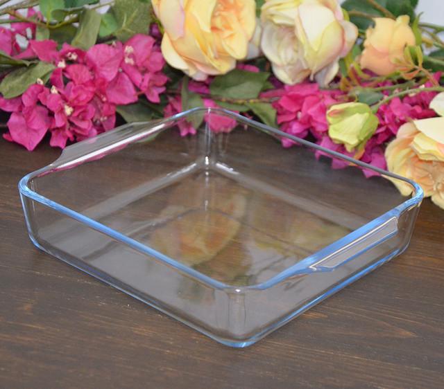 Форма для випічки із жаростійкого скла, квадратна (фото)