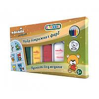 """Набор витражных красок Идейка CLASSIC """"Пушистые мишки"""" 98502"""