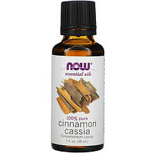 "Эфирное масло корицы NOW Foods ""Cinnamon Cassia"" (30 мл)"
