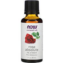 """Эфирное масло розы NOW Foods """"Rose absolute"""" (30 мл)"""
