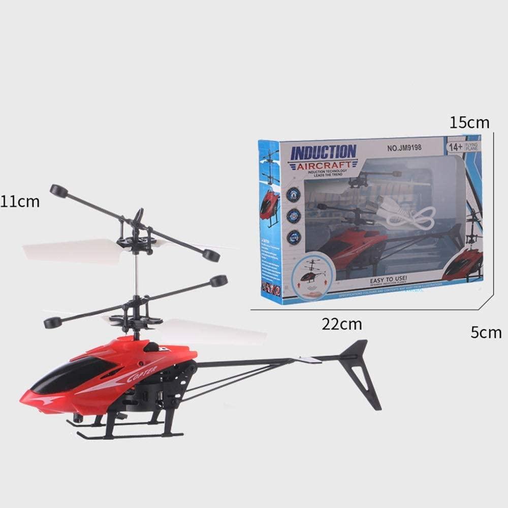 Летающая игрушка - вертолет Induction aircraft с сенсорным управлением 8088 (красный и синий)
