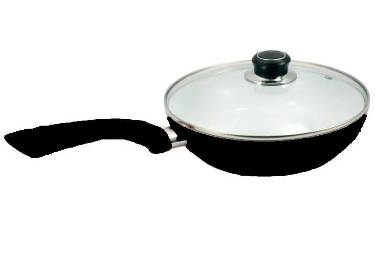 Сковорода с керамическим покрытием глубокая D 24 Черная FSJ24