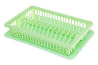 Сушка для посуды R-Plastic 1 ярус 43*29*8см салатовая