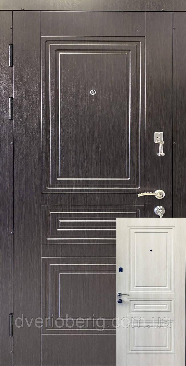 Входные двери венге темный / белый жемчуг