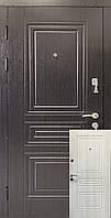 Входные двери венге темный / белый мат