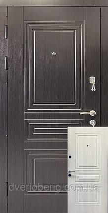Входные двери венге темный / белый жемчуг, фото 2