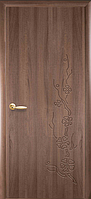 Двери межкомнатные Новый Стиль Колори Сакура Глухие 60 ПВХ Delux Золотая Ольха