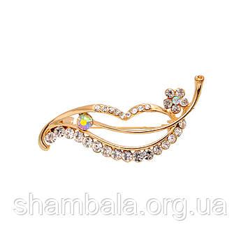 "Брошка Fashion Jewerly ""Golden leaf"" (010397)"