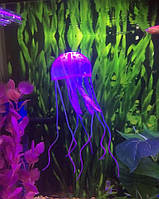Медуза силиконовая на присоске Фиолетовая