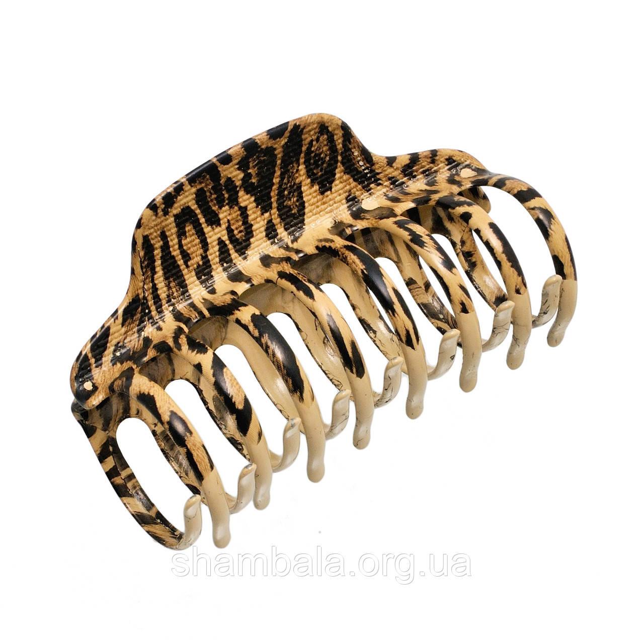 """Заколка-краб для волос """"Леопардовый"""" (071862)"""