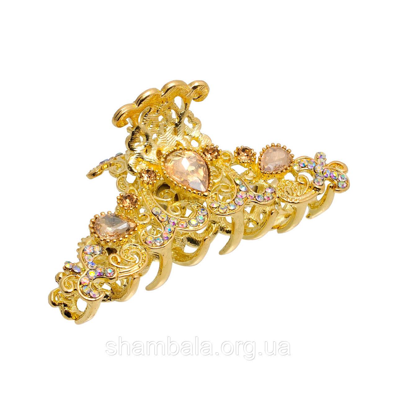 """Заколка-краб для волос """"Golden Arc"""" (048994)"""