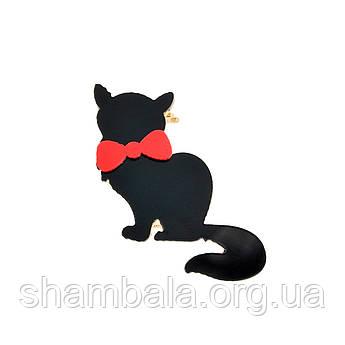 """Брошка Fashion Jewerly """"Чорна кішка"""" (048901)"""