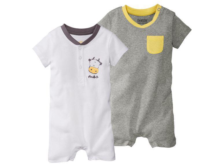 Песочник белый и серый для новорожденных Lupilu р.50/56