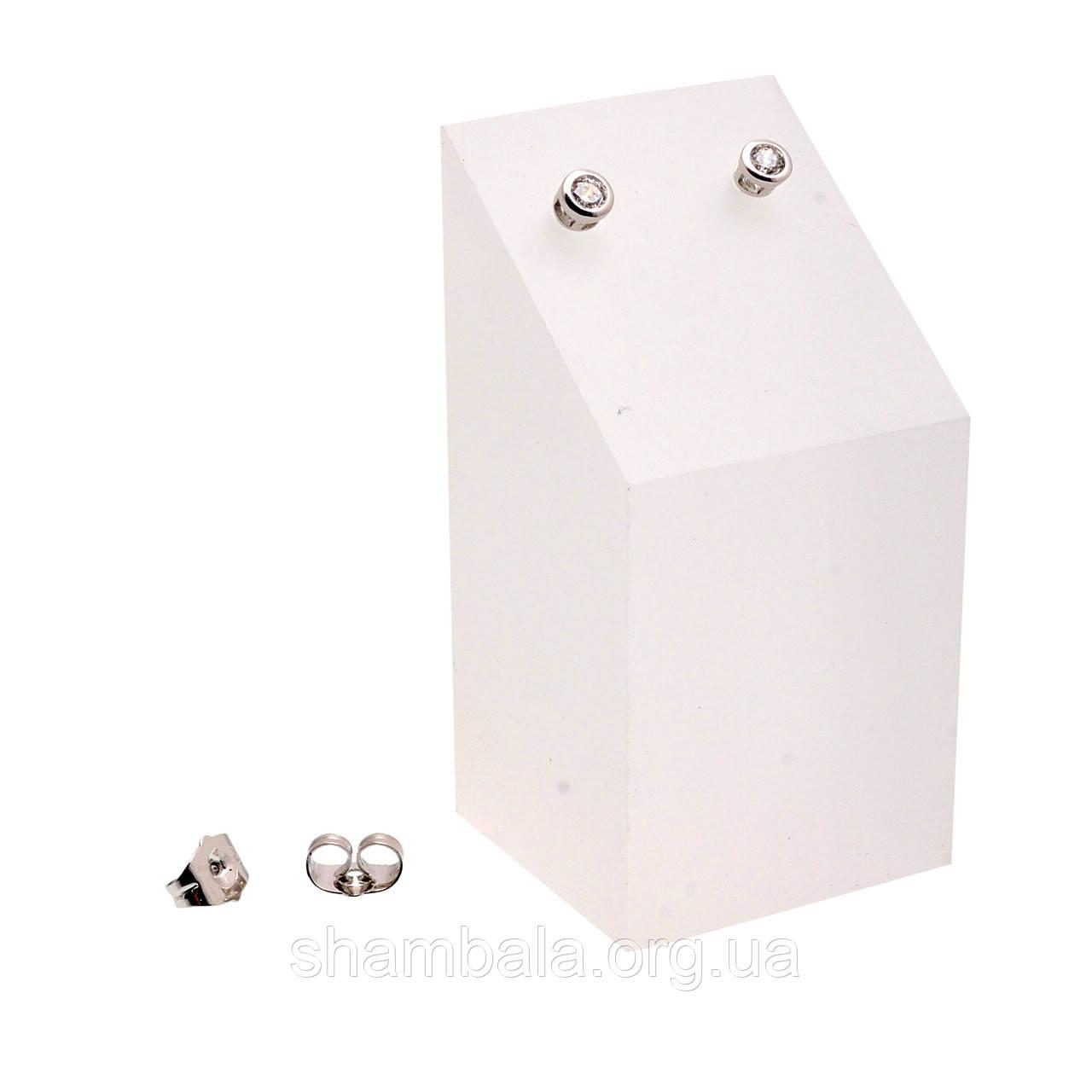 """Серьги-гвоздики Xuping Jewelry """"Камни в оправе"""" серебро (063553)"""