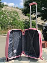 Пластиковый малый чемодан Fly 310К для ручной клади розовый, фото 3
