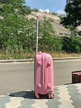 Пластиковый малый чемодан Fly 310К для ручной клади розовый, фото 2
