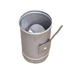 Регулятор тяги одностенний из нержавеющей стали (0,6 мм.)