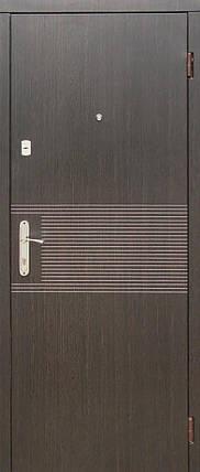 Входные двери венге темный / белая текстура, фото 2