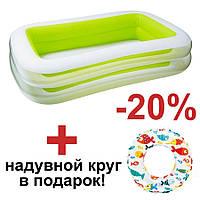 Детский надувной бассейн Intex семейный для детей и взрослых дачи интекс