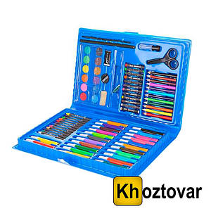 Набір для дитячої творчості у валізі | 86 предметів