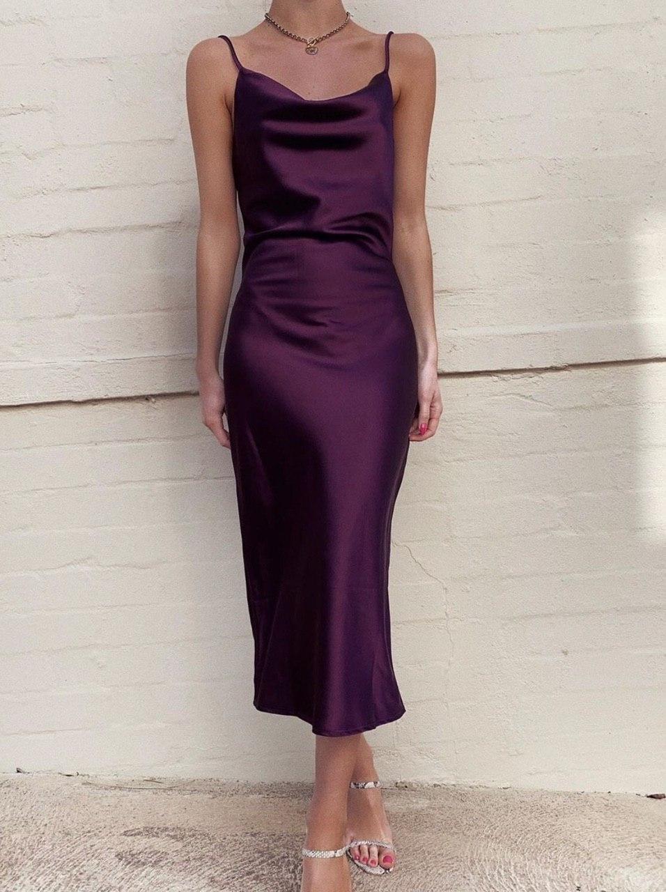 Платье комбинация шелк MI1402