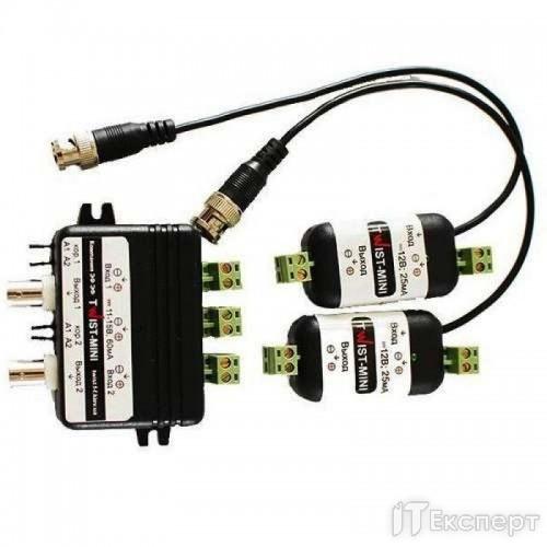 2 - канальний комплект для передачі відеосигналу Twist-mini 2k (Kit Bnc+Screw)