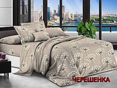 Евро макси набор постельного белья 200*220 из Ранфорса №181501 Черешенка™