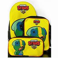Набор 3 в 1: рюкзак, сумка и пенал с героями Brawl Stars / Бравл Старс Леон
