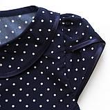 Блузка для дівчинки SmileTime короткий рукав Julia, в синій горошок, фото 3