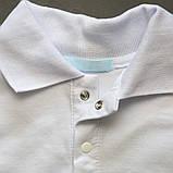 Поло с длинным рукавом р.152,158,164 для мальчика SmileTme Classic, белое, фото 4
