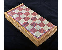 Игровой набор 3в1 нарды шахматы и шашки (39х39 см) 409