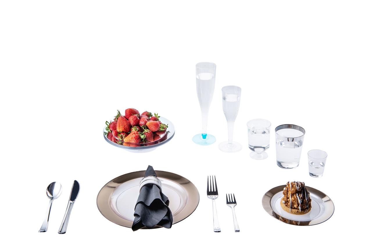 Одноразовая посуда стеклопластик красивая термостойкая плотная 96 шт 6 чел Capital For People