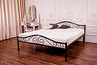 Металева ліжко 140х200 POLO black ТМ EAGLE