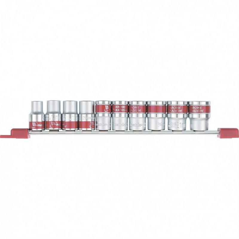 Набор торцевых головок 3/8  шестигранные  CrV  10 шт.  8-19 мм  Mtx 13558
