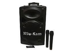 Акустическая портативная колонка комбик Su-Kam BT150A + 2 микрофона