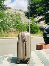 Пластиковый малый чемодан Fly 310К для ручной клади в цвете шампань, фото 3