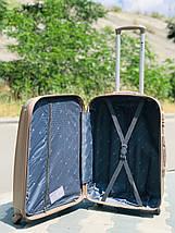Пластиковый малый чемодан Fly 310К для ручной клади в цвете шампань, фото 2